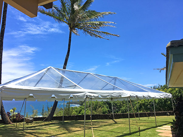 20 x 40 Clear-Top Tent - Wedding Tent Rental Kauai