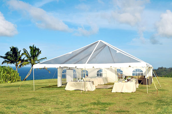 30 x 40 Clear-Top Tent - Wedding Tent Rental Kauai