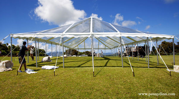 40 x 80 Clear-Top Tent - Wedding Tent Rental Kauai