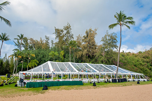 40 x 120 Clear-Top Tent - Wedding Tent Rental Kauai