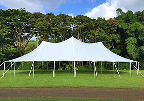 Sail Cloth Tents - Kauai Tent Rentals
