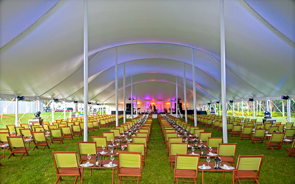 60' Wide Tent Interior - Corporate Event Tent Rental