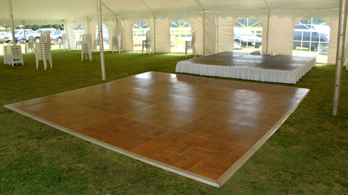 Parquet Wood Dance Floor - Kauai party rentals