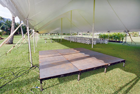 Performance stage - Kauai party rentals