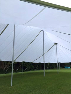 Sail Cloth Tent center poles - Kauai Event Tent Rental