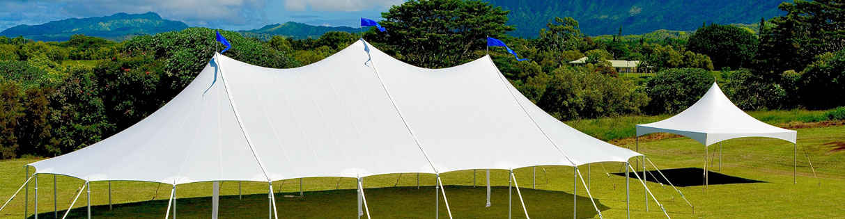 Sail Cloth Tent - Kauai Event Tent Rental