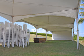 Under the 20 x 20 Marquee Tents - Event Tent Rental