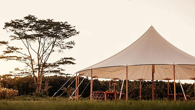 45 x 84 Sail Cloth Tent - Kauai Event Tent Rental
